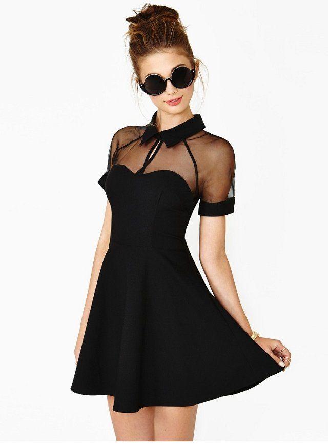 vestido de estilo sexy de color negro para mujeres  61708d1e1f0
