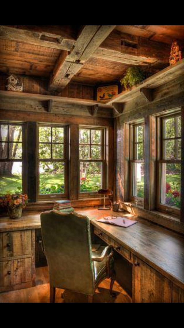 Small Cottage Interiors Cozy Home Office Cottage: Cozy Home Office, Rustic House, Cozy House