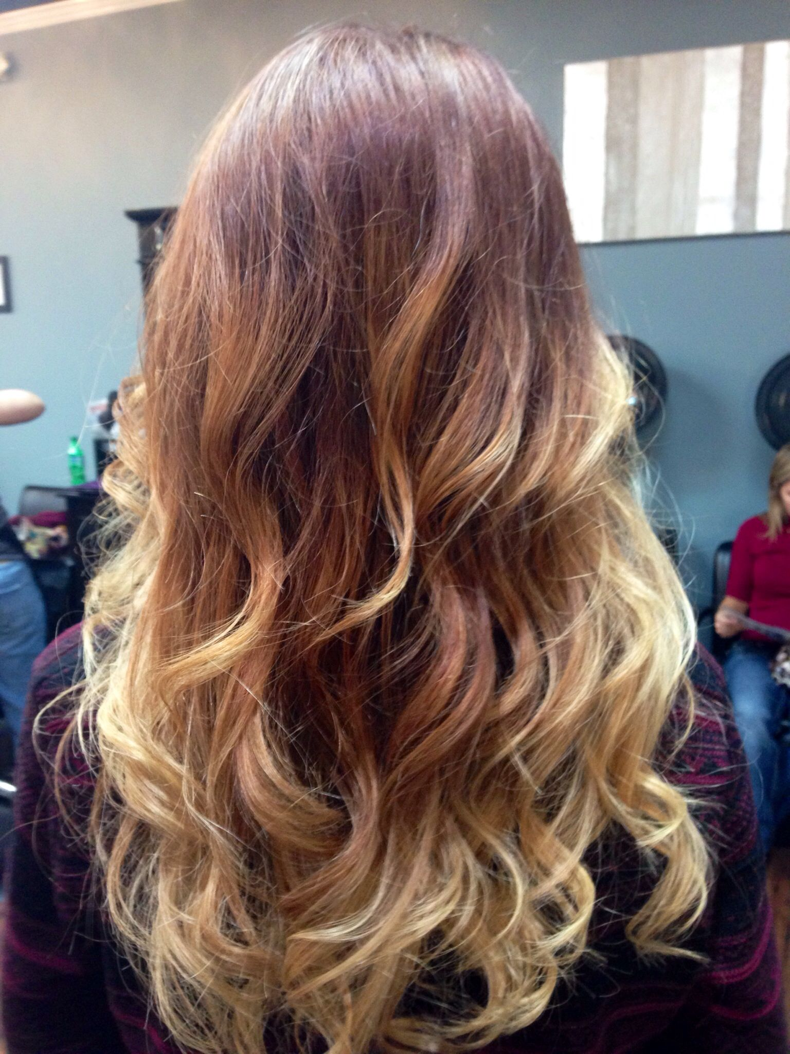 Ombre With Red Tint Hair Boring Hair Hair Styles