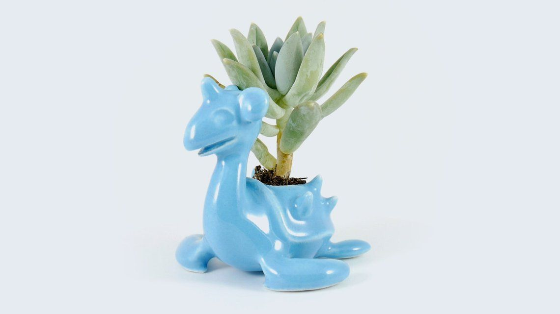 Ceramic Pokemon Planters made by Artysaurs -