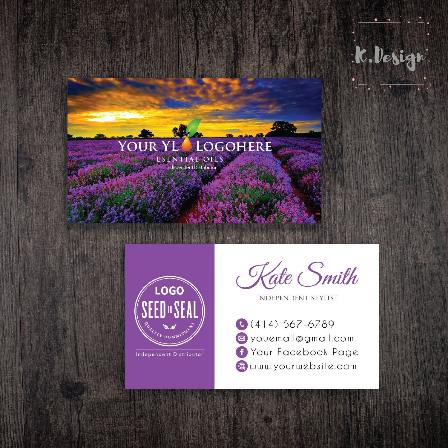 Young Living Business Card Young Living Business Cards Young