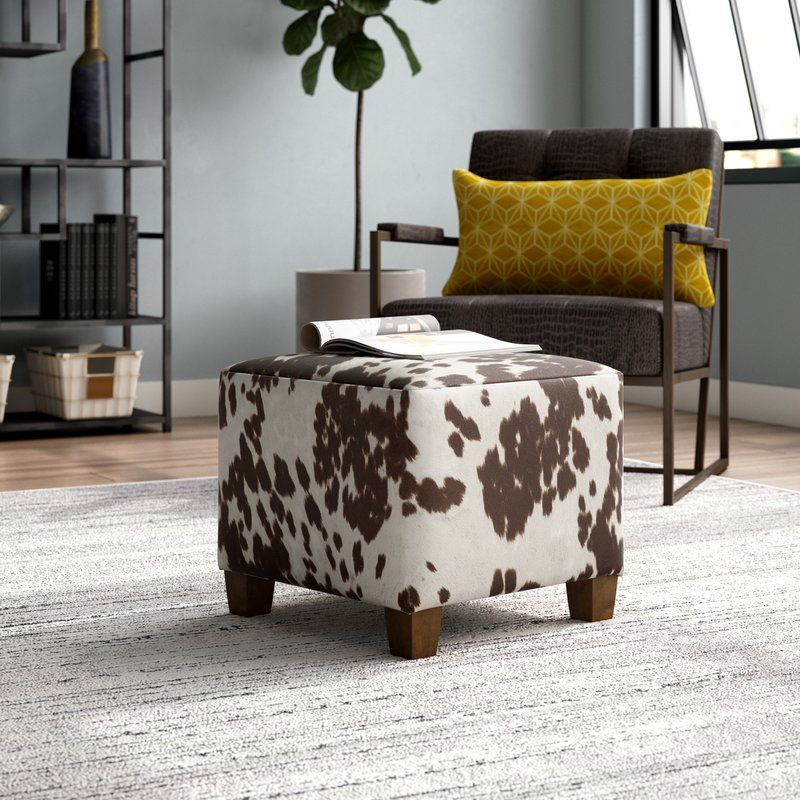 Connie Cube Ottoman With Images Cube Ottoman Cowhide Ottoman