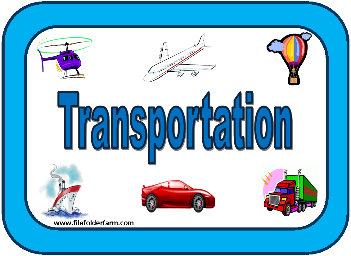 Transportation Free File Folder Game