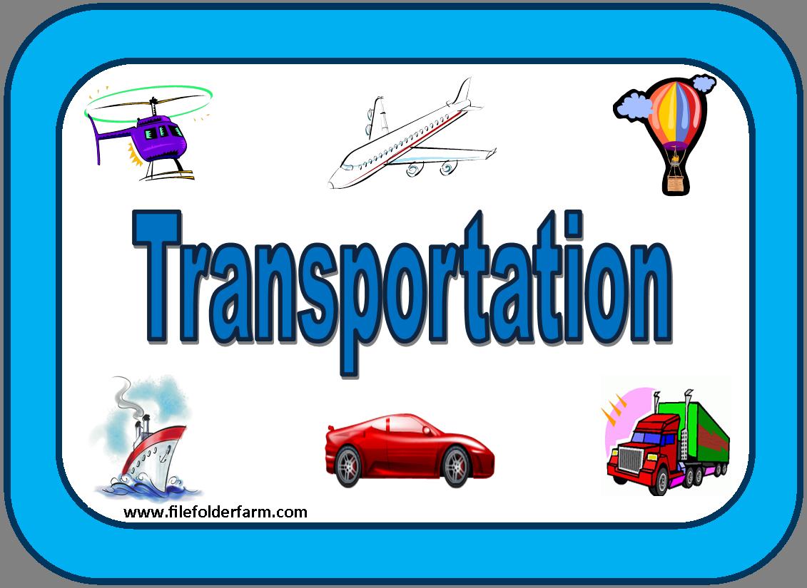 Transportation Free File Folder Game