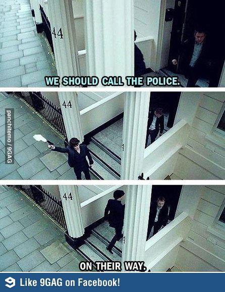 We Should Call The Police Sherlock Sherlock Holmes Sherlock Fandom