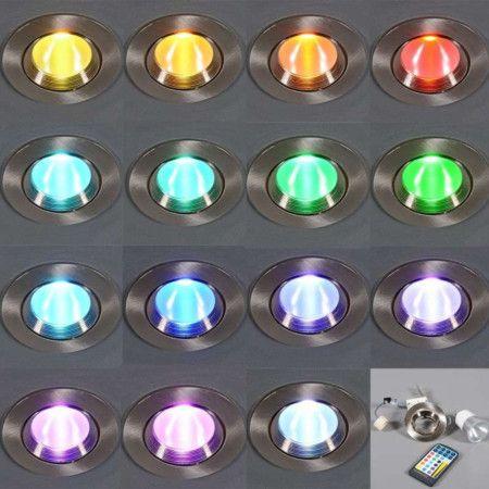 Einbaustrahler Easy mit RGB-LED und Fernbedienung: Mit diesem ...