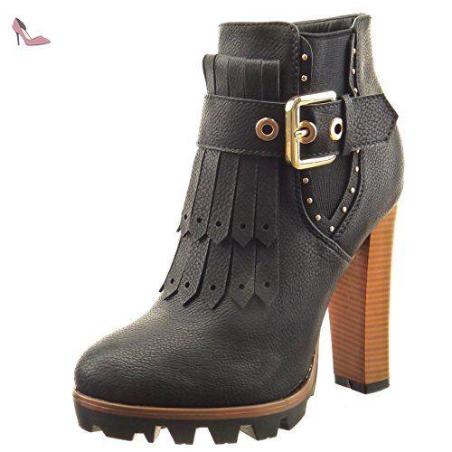 Plus Grand Sopily Chaussure Mode Bottine Chelsea Boots