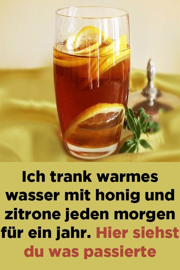 Tee mit Zitrone und Honig zum Abnehmen