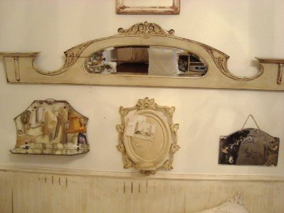 assorted antique & vintage mirrors...great look!!   Wall Decor ...