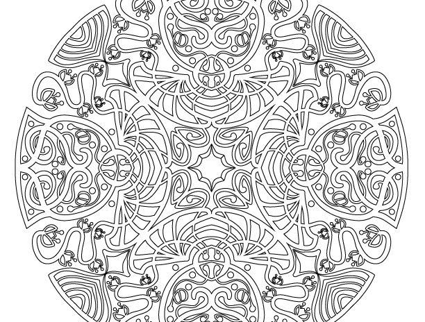 Free Art Nouveau Mandala Coloring Page Vintage Fangirl Mandala Coloring Pages Coloring Pages Mandala Coloring