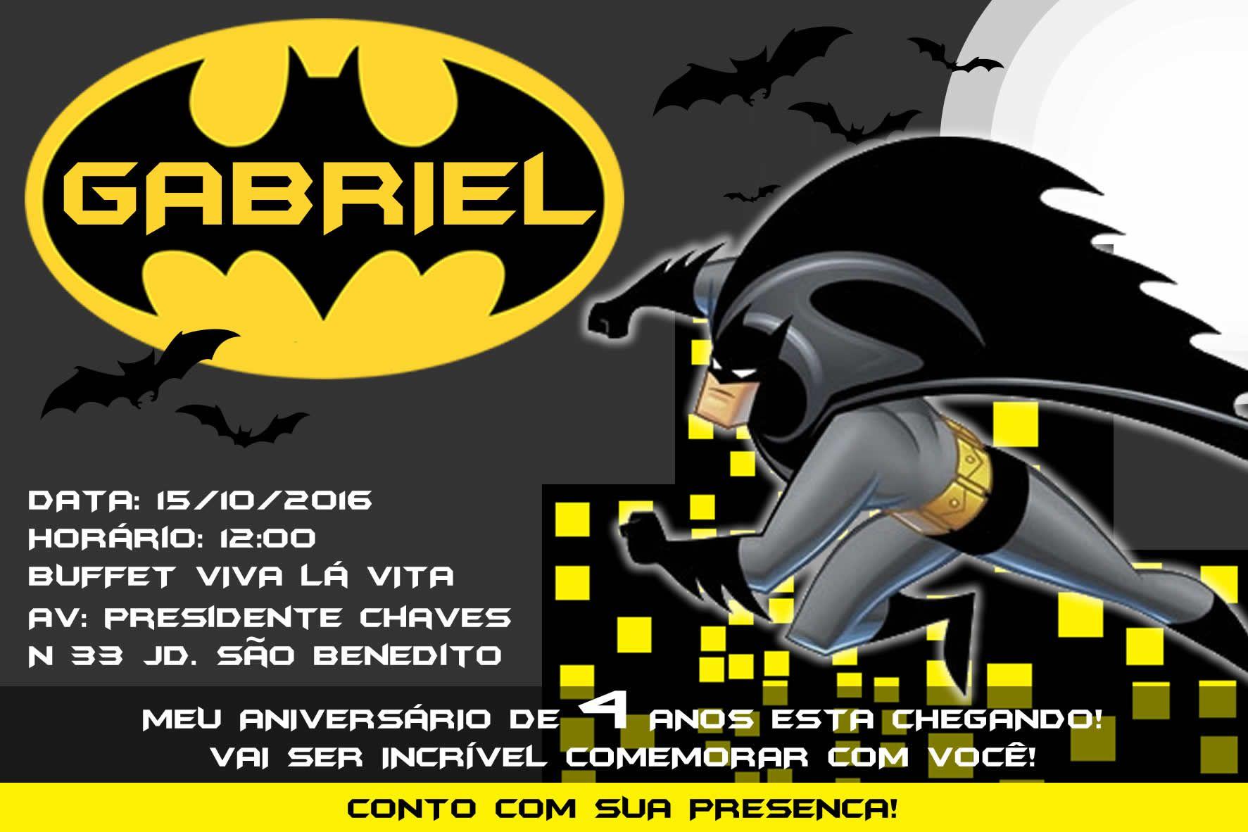 Resultado De Imagem Para Convite Do Batman Para Editar Batman Em 2019