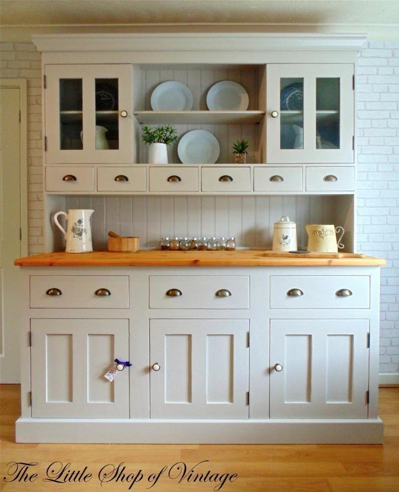 Huge solid pine kitchen dresser sideboard cupboard cabinet unit