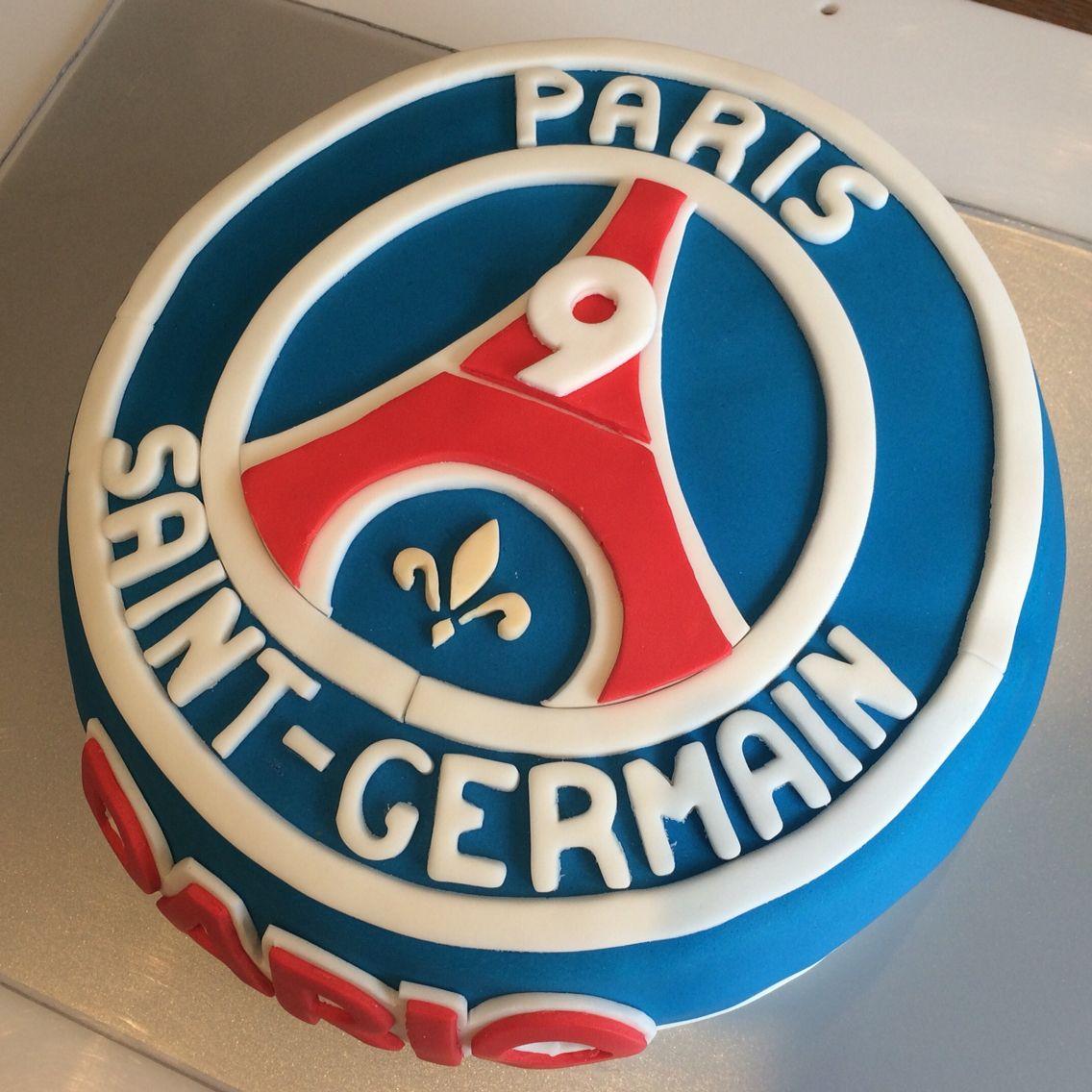 Top PSG Paris Saint-Germain birthday cake, gâteau d'anniversaire  VO01