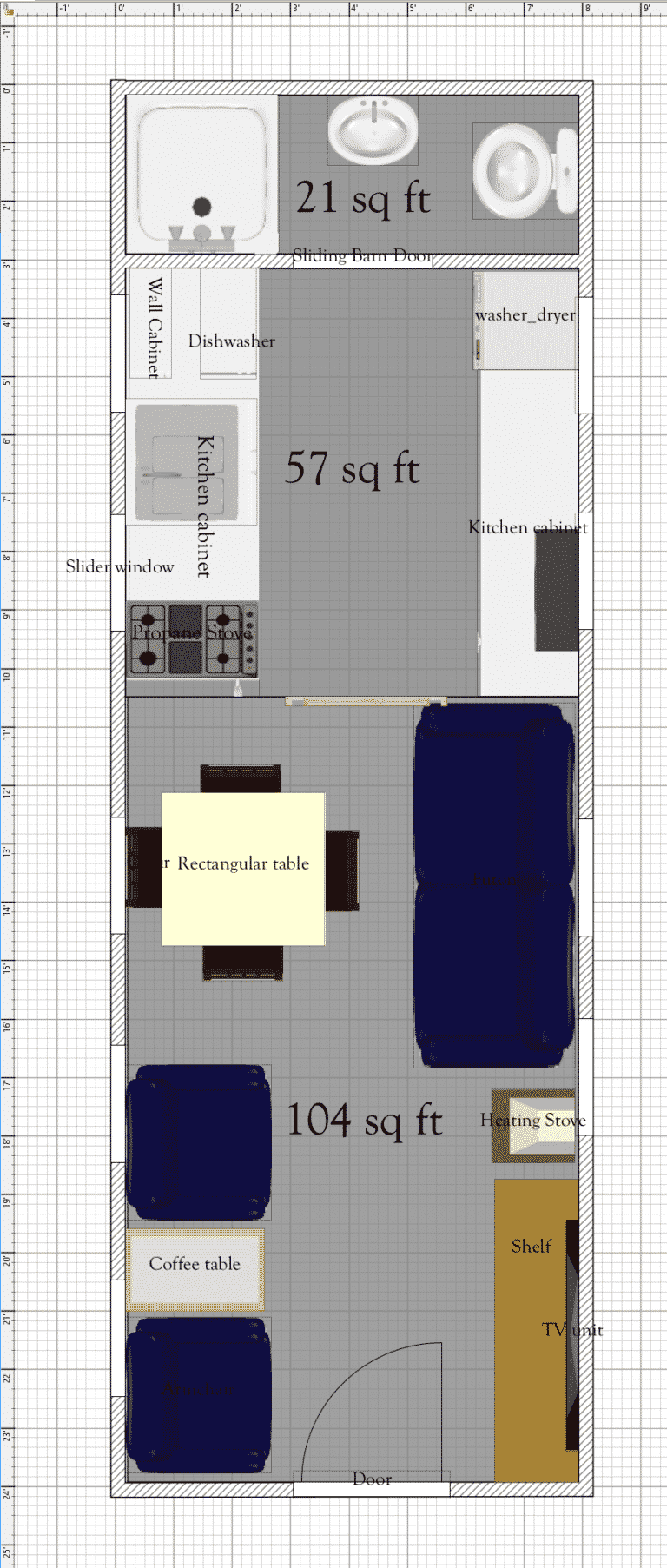 Free Tiny House Floor Plans 8 X 24 House Plan With Alternate Features Tiny House Floor Plans Micro House Plans Tiny House Plans Free