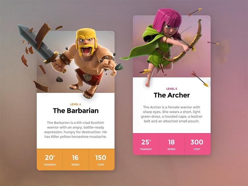 Dribbble - Clash Cards Preview by Matt Thompson | Web Design ...