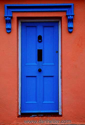 Lovely blue door with gorgeous contrast of rusty-coral facade in Munster Ireland  sc 1 st  Pinterest & Lovely blue door with gorgeous contrast of rusty-coral facade in ...