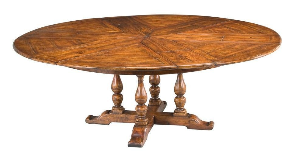Round Dining Table Expands 64 84 Leaves Store Solid Walnut New Free Shipping Rt Britishcolonial Dining Table