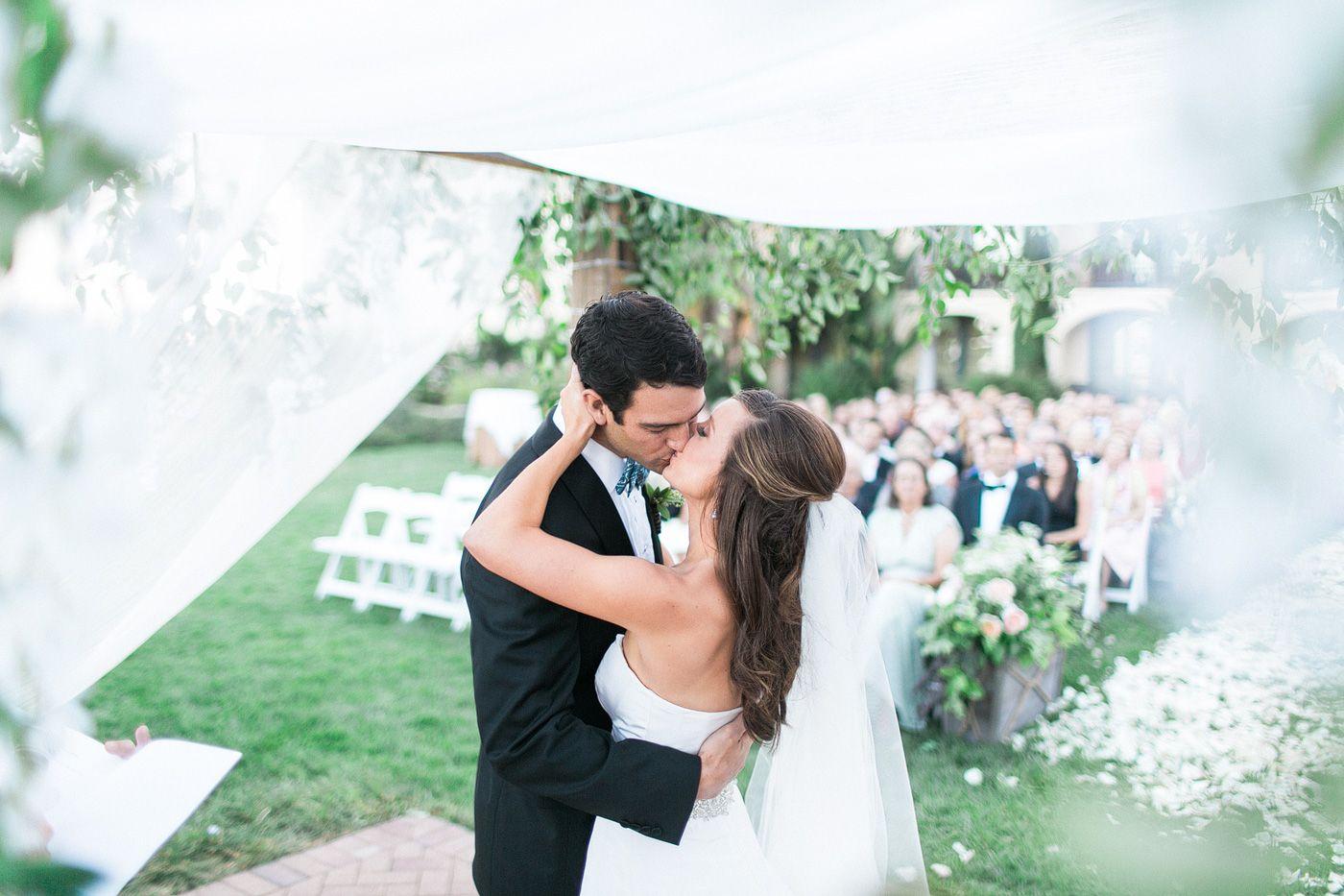 First Kiss! Terranea wedding, Terranea resort wedding