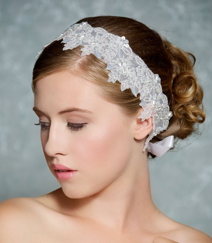 White Wedding Headband 954f9d6c1bb