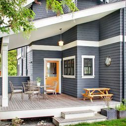 Pin By Patricia Cyr On My Home Gray House Exterior Exterior Paint Colors For House House Paint Exterior