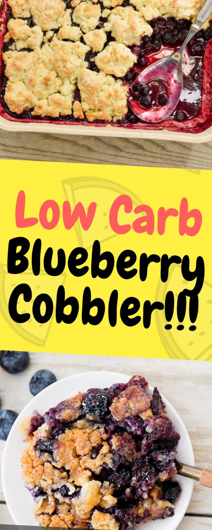 Low Carb Blueberry Cobbler - One of food  - =Low Carb Dinner -