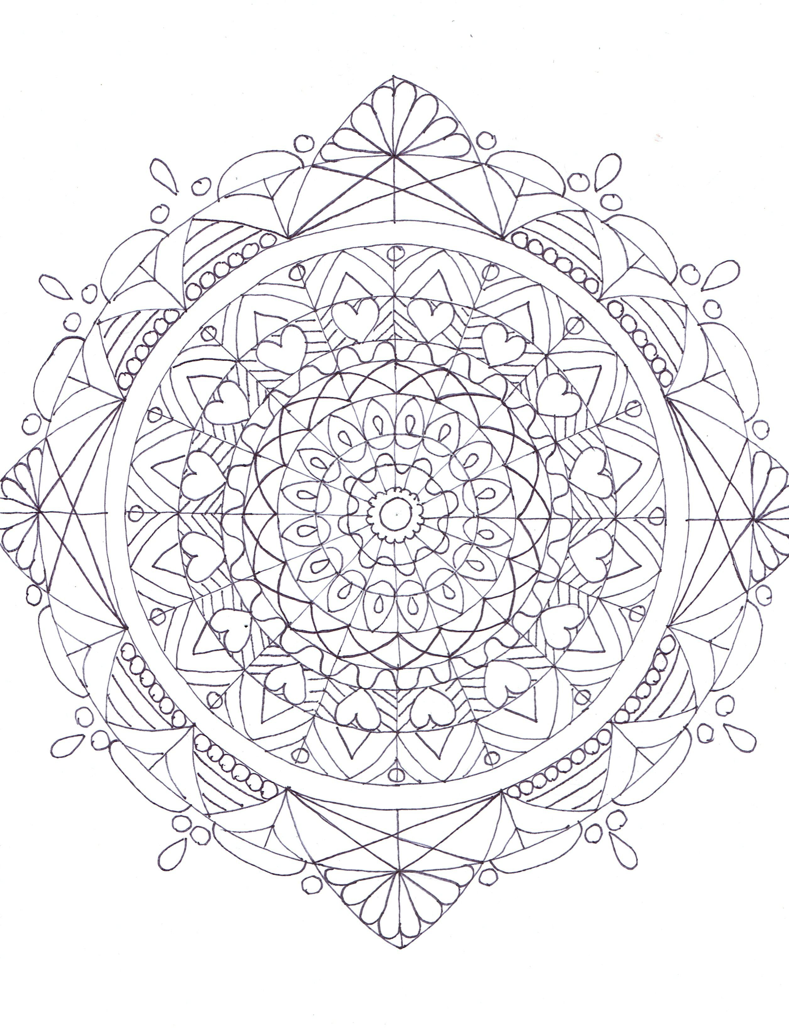 Mandala Coloring Page By Sw Mandalas Pinterest Mandala Sw Coloring Page