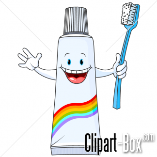 Clipart Tooth Paste Tube And Brush Royalty Free Vector Design Brushing Teeth Cartoon Presentation Design Layout