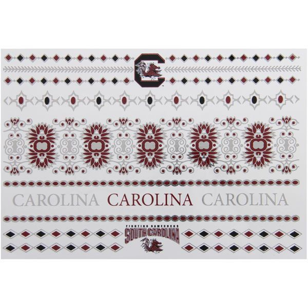 South Carolina Gamecocks Metallic Fashion Tattoos