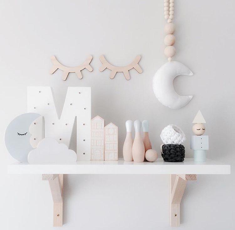 The cutest shelf accessories to decorate your kids room - Lettre decorative ikea ...