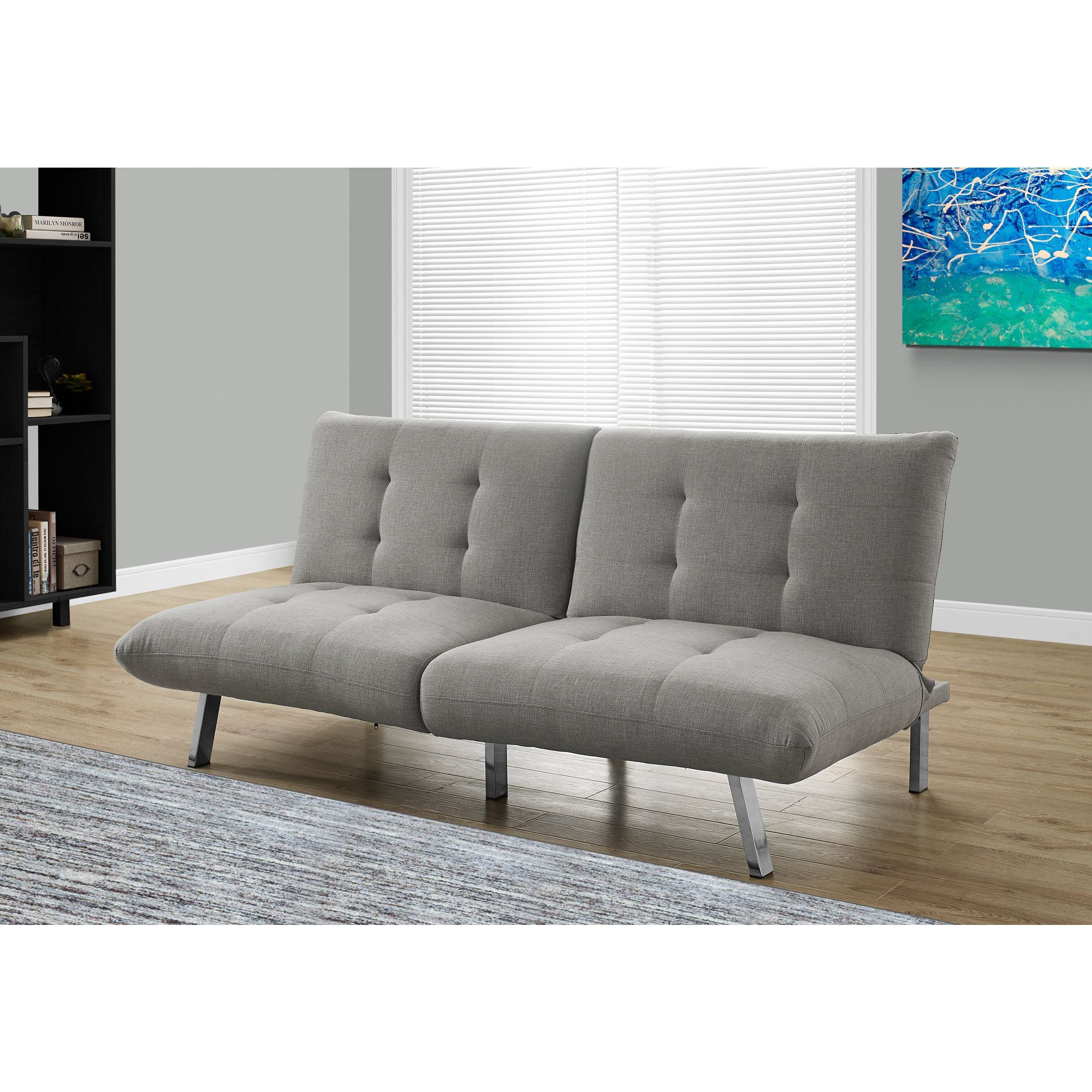 bed vinyl grey furniture clack great sofa futon heston click products deal
