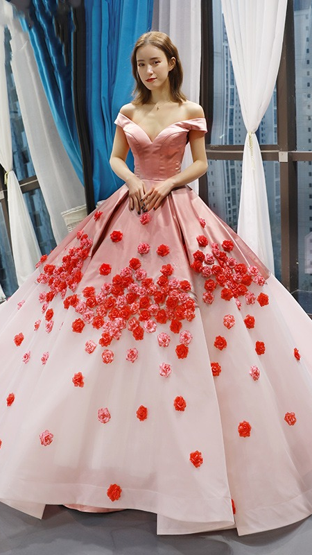 Gorgeous Pink Ball Gown 2021