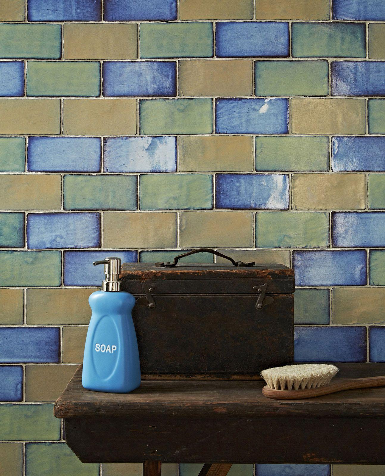 Amazing Colourful Iridescent Backsplash Kitchen Or Bathroom Tiles