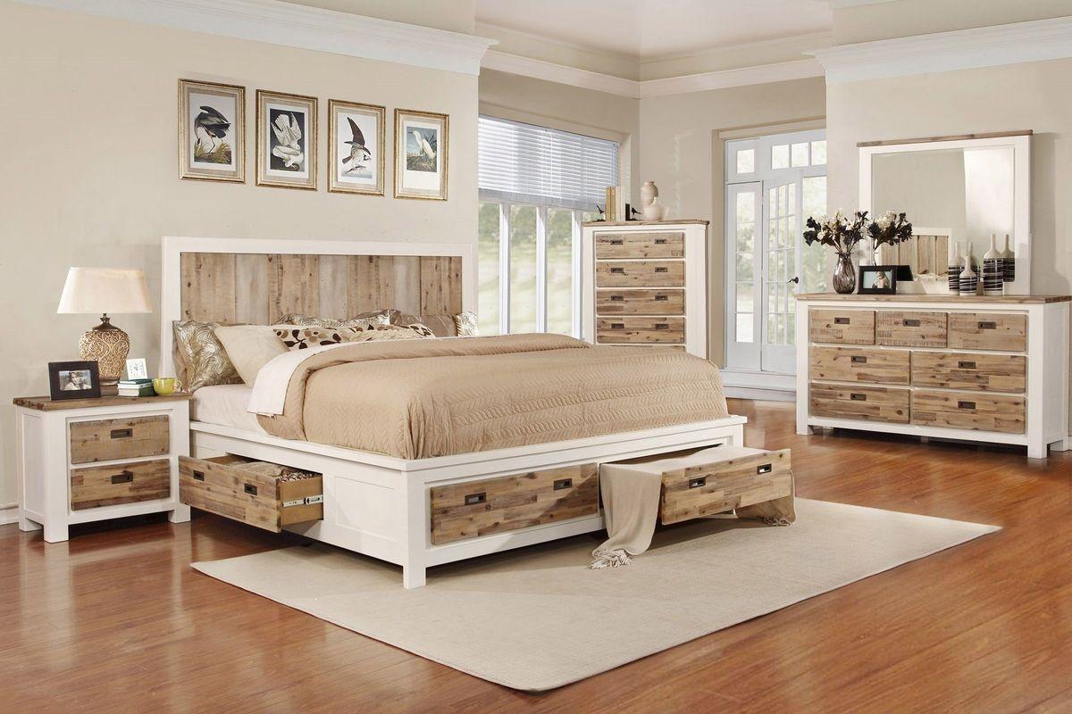 Western 5 Piece Queen Bedroom Set Mobilier De Chambre A Coucher