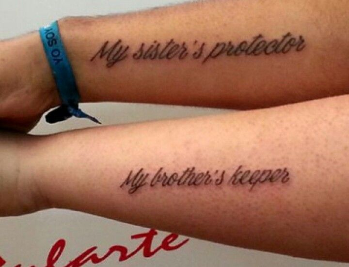 Cute Brother And Sister Tattoo Hope To Get This With My Brother Sister Tattoos Brother Tattoos Sibling Tattoos