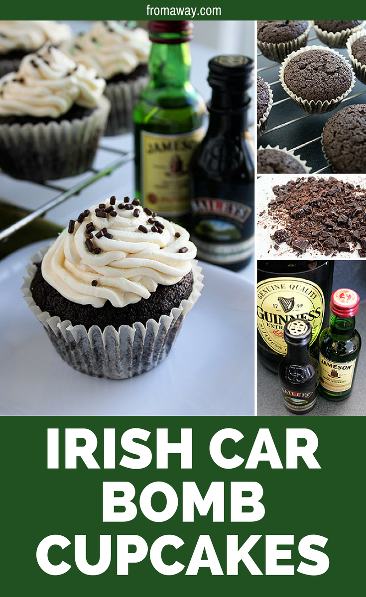 St. Patrick's Day Cupcakes - 17 Green-Attired St. Patrick's Day Party Food Ideas- Irish Car Bomb Cupcakes