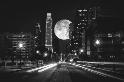 Photography black and white vintage landscape full moon bw moon street city us architecture travel urban night lights cityscape usa adventure america city