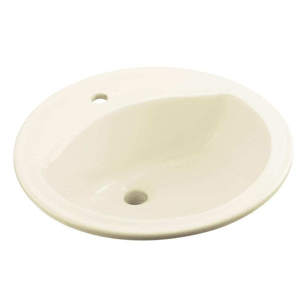 Sterling Modesto Drop In Vitreous China Bathroom Sink In Biscuit