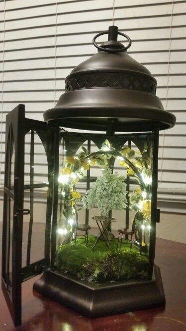 Diy Fairy Garden Lantern Fairy Garden Designs Fairy Garden Diy