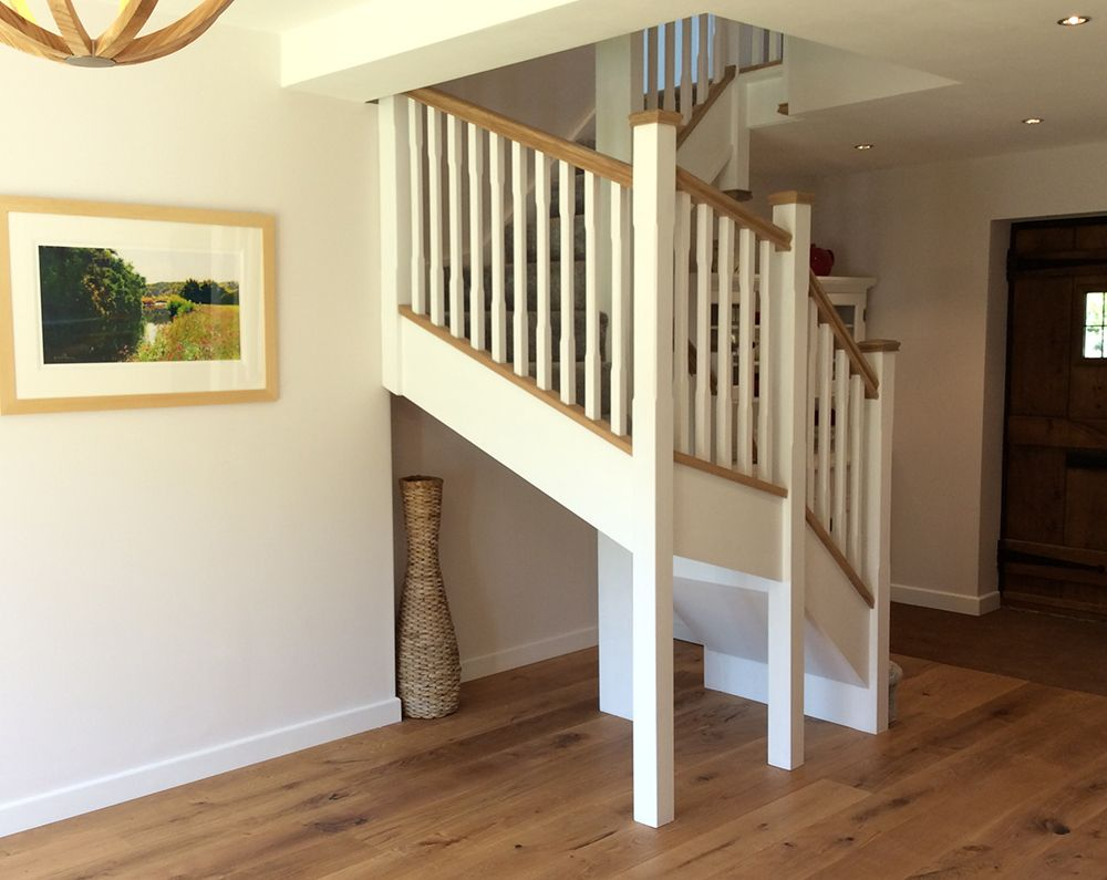 Best A White Primed Double Winder Staircase Using 35Mm Stop 400 x 300