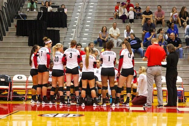 Georgia Volleyball Loses To Alabama In Three Sets Georgia Volleyball Alabama