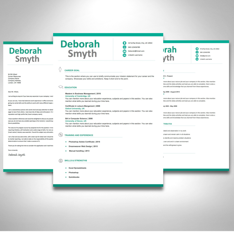 Fresh Graduate Cv Template Cv Template Word Cv Template Resume Template Word