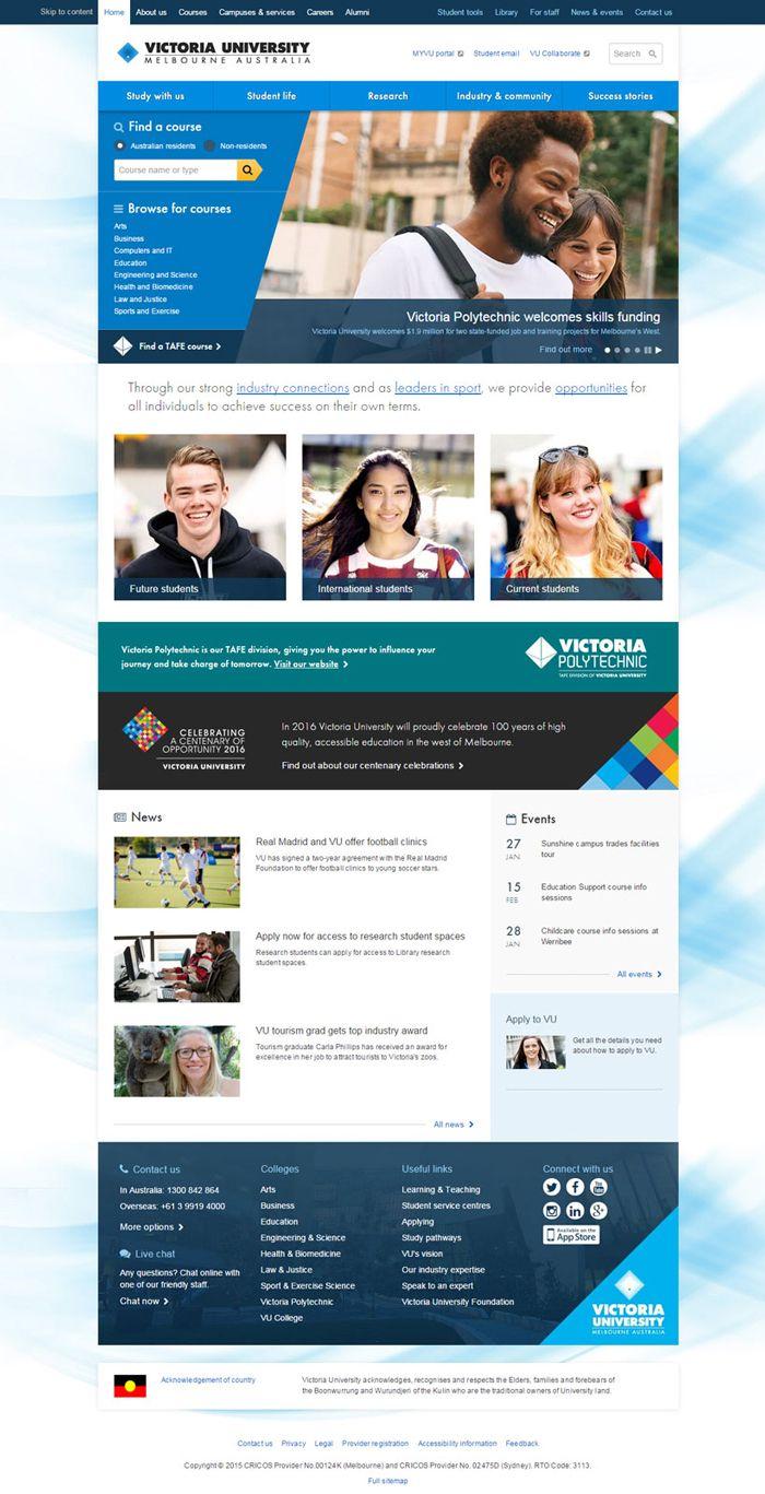 20 College University Websites For Design Inspiration University Website Website Design College Website