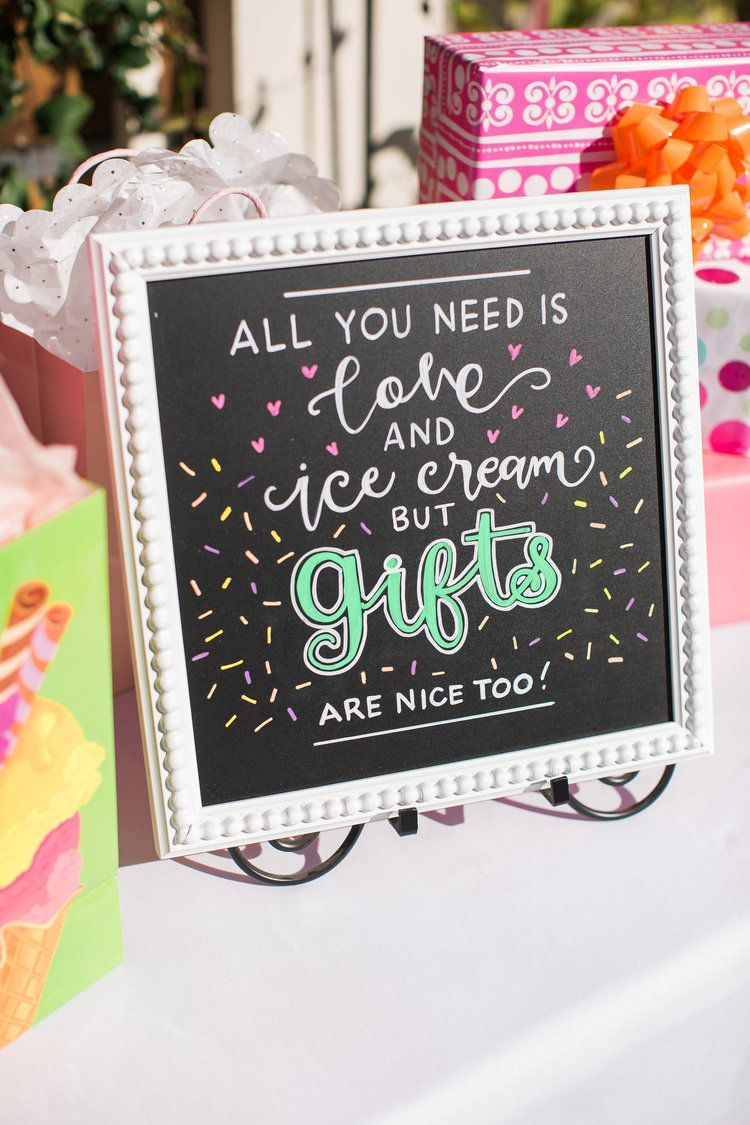 Ice Cream Theme Birthday Party #icecreambirthdayparty