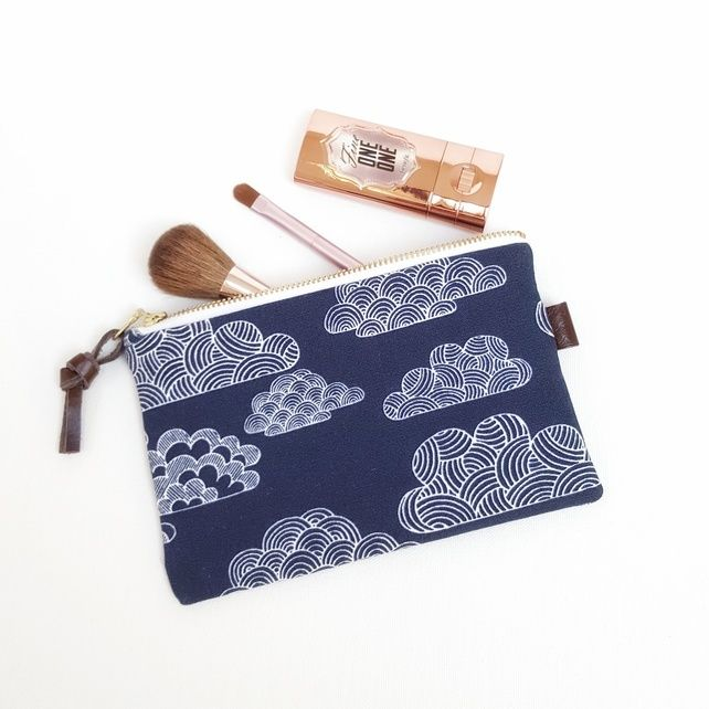 Organic Cotton Clouds Make Up Pouch,