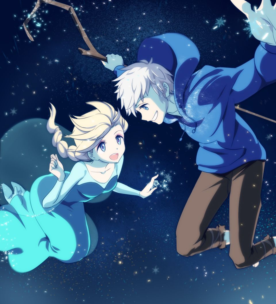 Rise Of The Guardians Jack Frost And Frozen S Elsa Elsa Jack