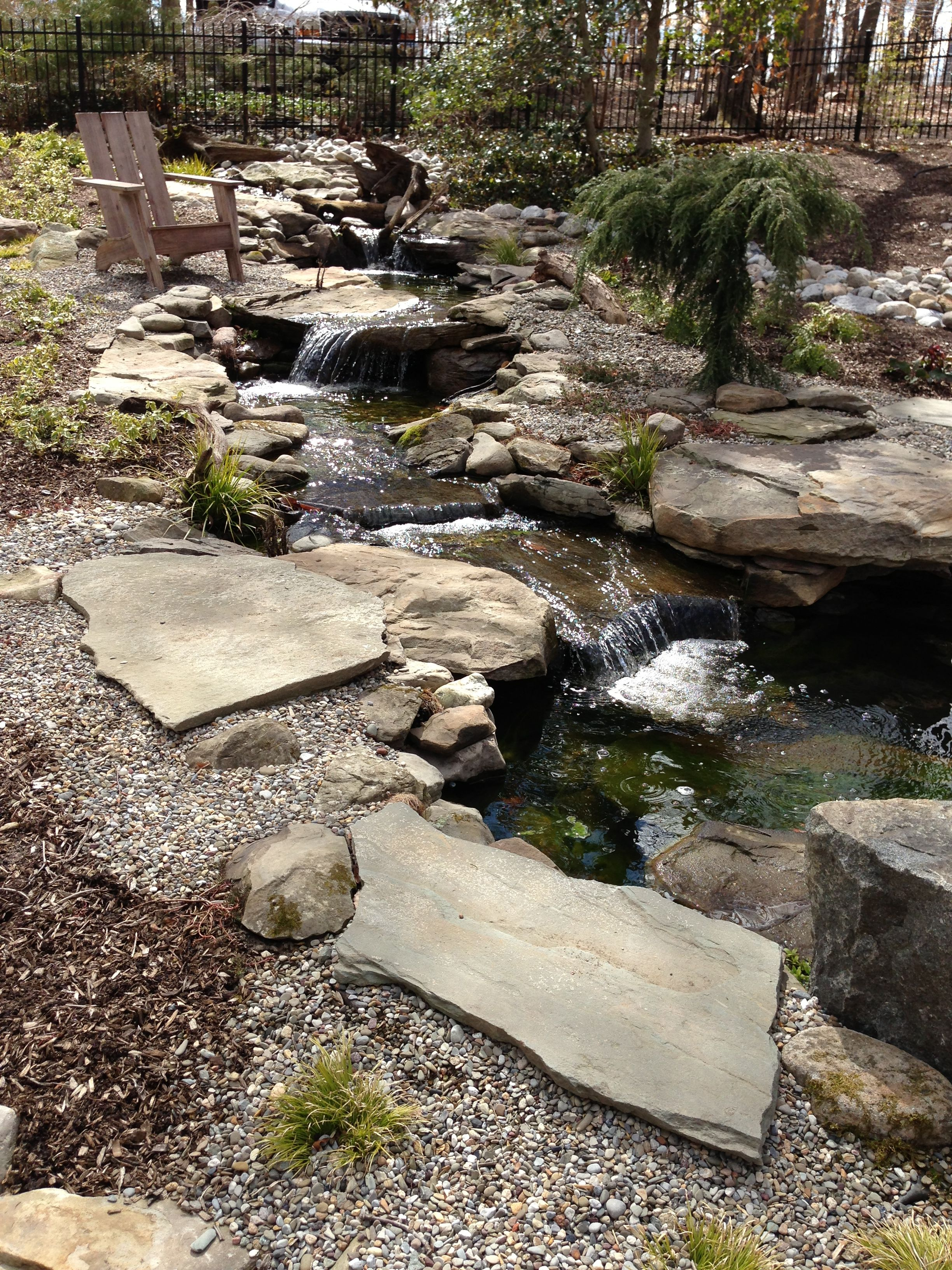 Natural Waterfalls And Streams Waterfalls Backyard Water Features In The Garden Natural Waterfalls