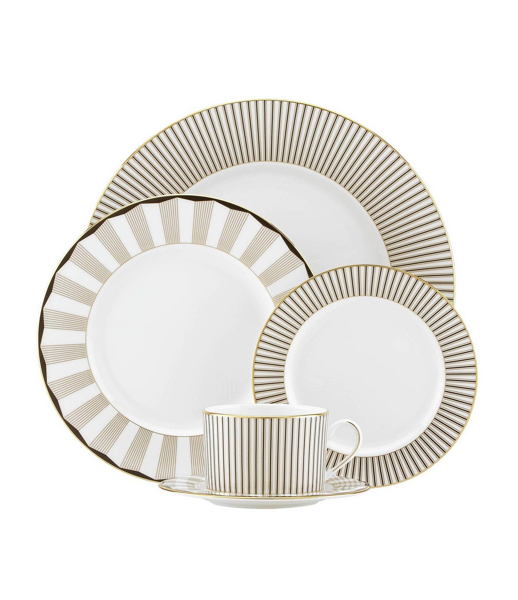 Elegant Tableware For Dining Rooms With Style: Lenox Gluckstein Audrey 5-Piece Place Setting