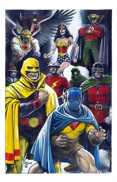 Female Stars Of Comics Justice Society Eddy Newell Justice Society Of America Dc Comics Art Dc Comics Characters