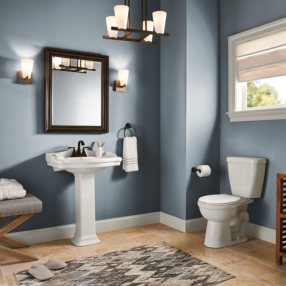 Behr Marquee 1 Gal N480 5 Adirondack Blue One Coat Hide Semi Gloss Enamel Interior Paint And Primer In On In 2020 Painting Bathroom Interior Paint Behr Marquee Paint