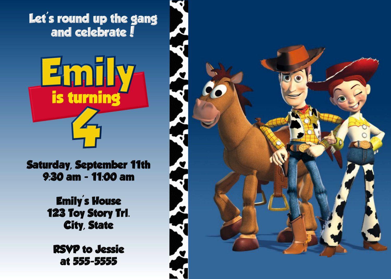 Toy Story Woody and Jessie Digital Invitation by preciouspixel ...